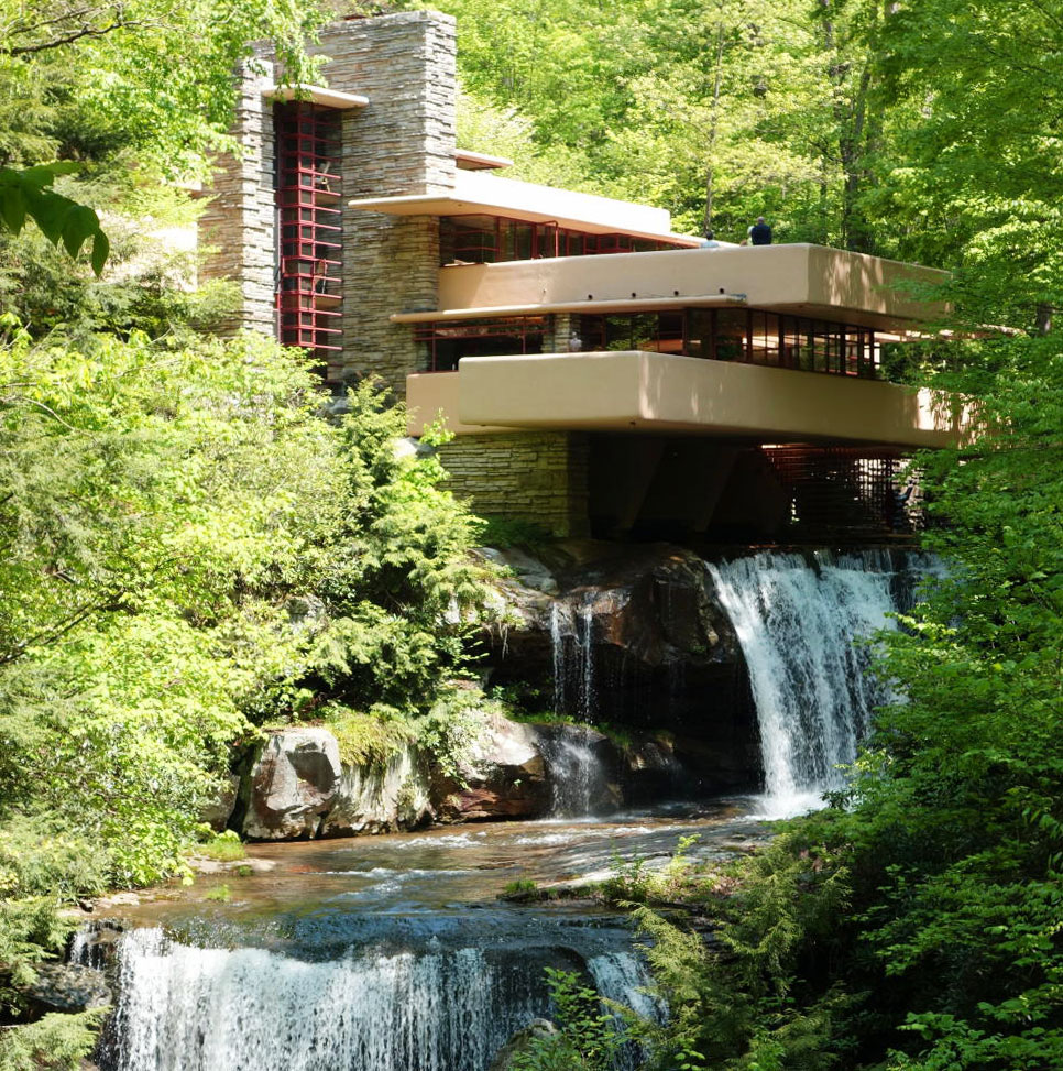 Casa de la cascada frank lloyd wright rt arquitectura for Cascada par