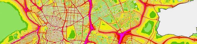 Mapa del ruido de tu ciudad.