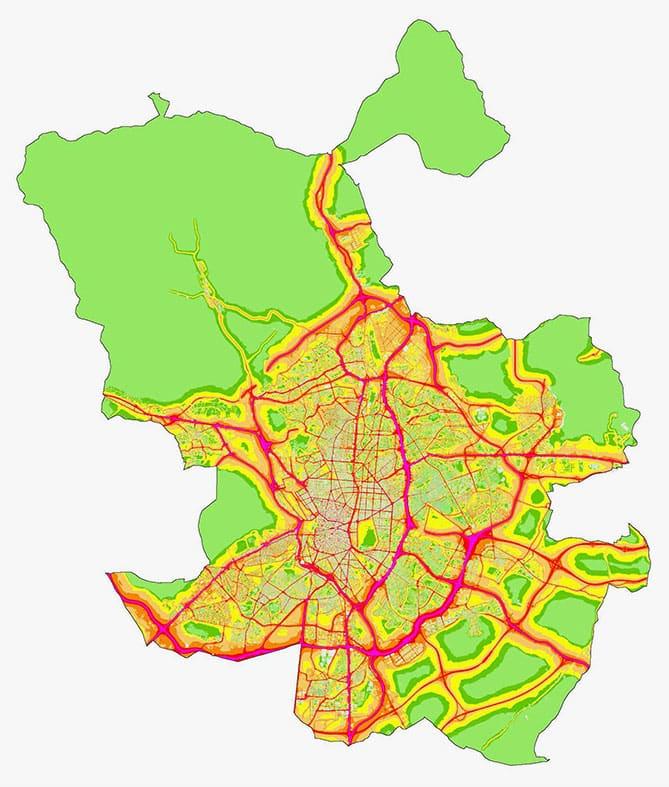Mapa del ruido del tu ciudad.