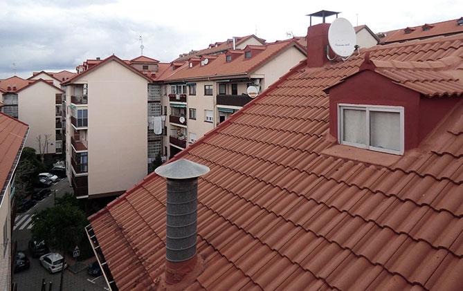 Conservar el tejado de nuestro edificio.