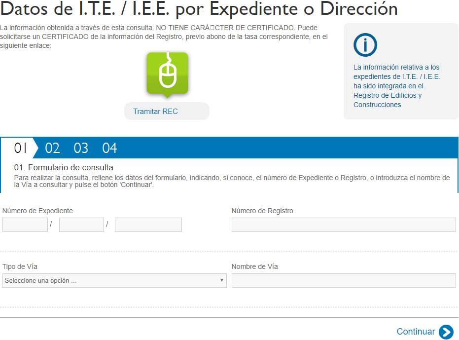 Registro de edificios IEE Ayuntamiento Madrid.
