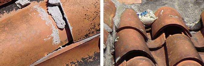 Sustituir pares de madera en cubierta por perfiles metálicos.