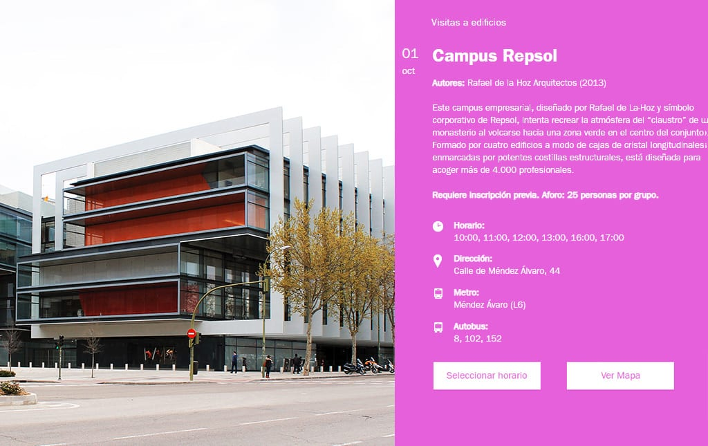 Semana de la Arquitectura 2018. Campus Repsol.