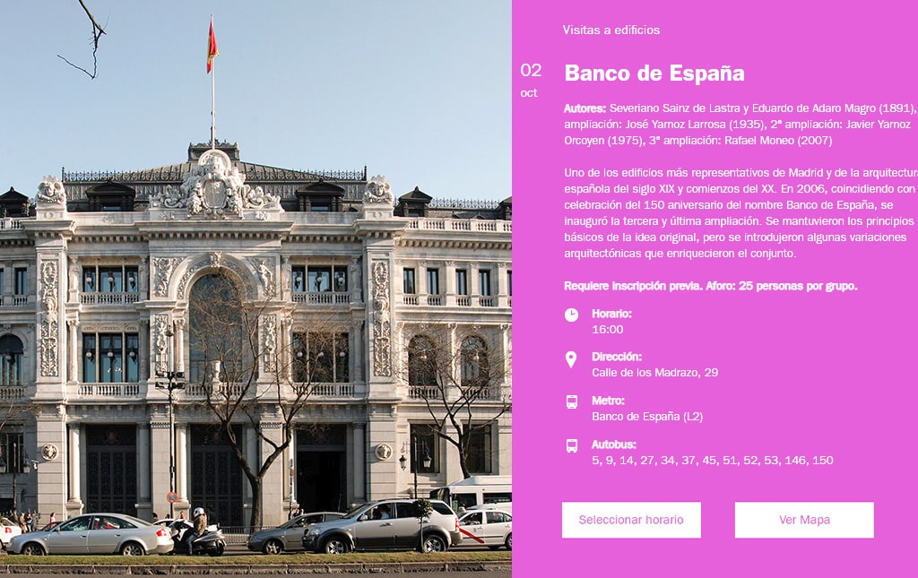 Semana de la Arquitectura 2018. Banco de España.