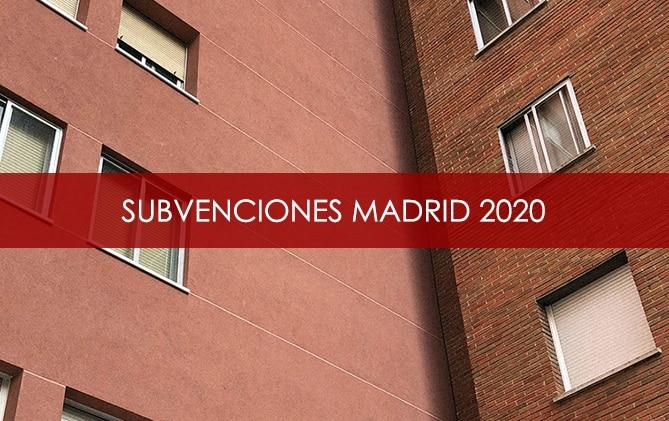 Subvenciones Comunidad de Madrid 2020.