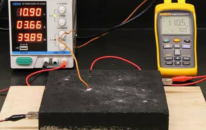 Hormigón calefactable - Andrew Logan / MIT