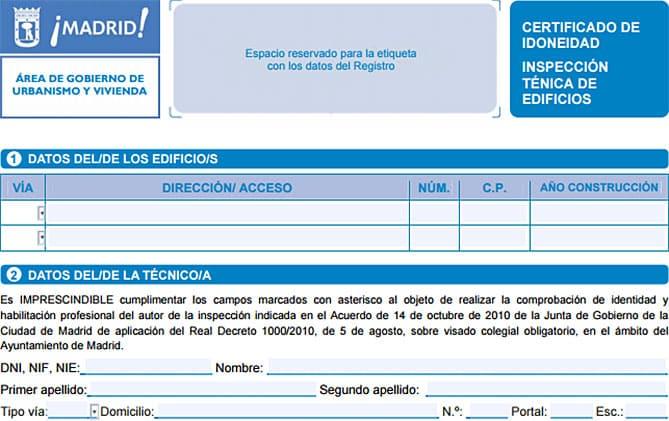 Certificado de idoneidad.