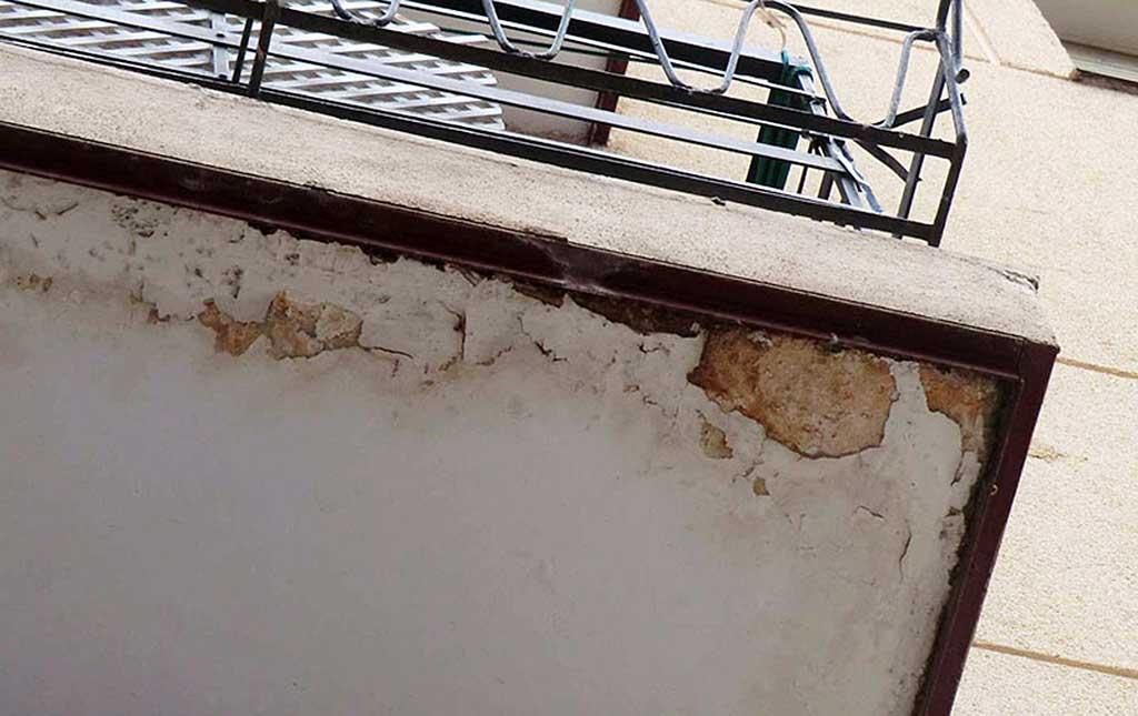 ITE desfavorable, desprendimiento de balcones.