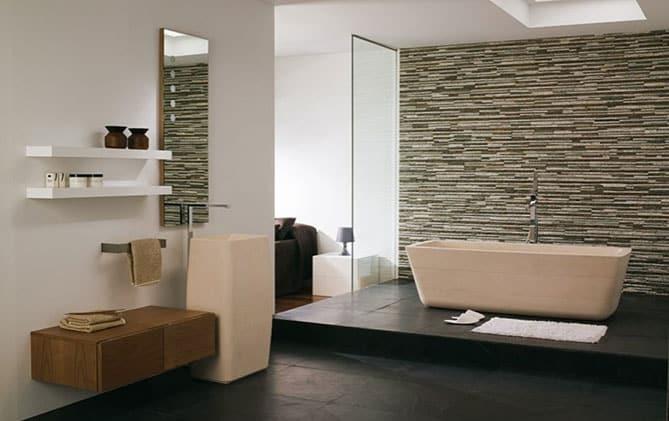 Piedra en el cuarto de ba o rt arquitectura - Reformar el cuarto de bano ...